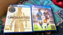 FIFA 16 . UNCHARTED collection للبيع