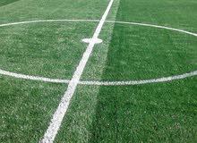 6 ريال سعر م العشب الصناعي للملاعب مع الرمل والربر والتخطيط فوق مساحة ألف م .