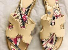 حذاء فلات بدون كعب جديد ماركة هيرمس