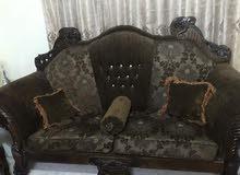 غرفه ضيوف للبيع 7 مقاعد لون بني