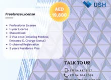 Professional License with 2 Visa for just AED6000! #0547042038