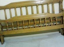 سرير 150 سم خشب زان شامل المله بتاعته والمسامير