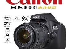 canon 4000d (جديد غير مستعمل) بسعر حصري