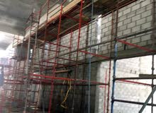 Installation of metal scaffolding