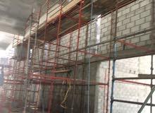 Installation of metal scaffolding