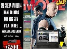 لاب وركستيشن HP ZBOOK 15 G2 CORE I7. جيل رابع QM +فيجا NVIDIA QUADRO DDR5