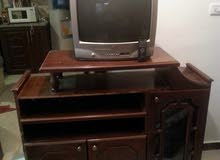 LG Color Television and TV Cabinet