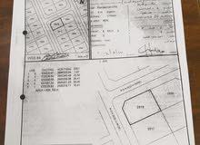 للبيع ارض سكنية كورنر في بوشر العوابي مخطط توزيع الضباط