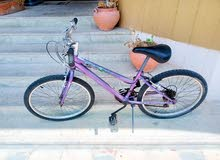girl huffy USA brand purple color 24in Mtb city bike in good working condition f