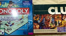 Monopoly and clue board games