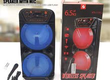 portable Rechargeable Bluetooth speaker with mic for sale brand new never used