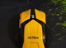 intex gaming mouse black and yellow (50dhs)