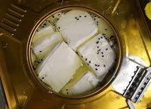 جبنة بيضاء مغلية