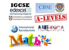Math- IGCSE, AS, A, IB, American, Indian, Pakistani, European Board