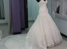 فستان عرس جديد غير ملبوس