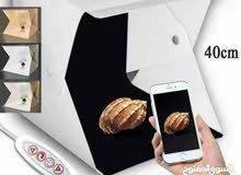 portable Photography studio with 4 color background استوديو تصوير محمول بخلفية 4