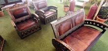 3 handmade antique chairs and sofas