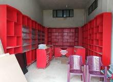 ديكور(جديد) محمصة أو سوبر ماركت......خشب نوع ثقيل و ممتاز جدا لون أحمر