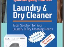 laundry and dry cleaning services available. azaiba area only