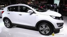 Automatic White Kia 2019 for rent