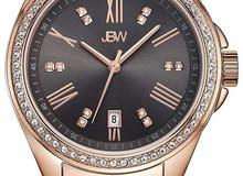 ساعة نسائية مرصعة ب 12 فص الماس طبيعي  ومطلية بالذهب الوردي عيار 18