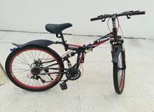دراجه هوائيه مستعمل اسبوع فقط بسكليت رياضي قابل للطي