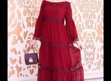 جديد سوق العشار   فستان غجري كلوشه خامه تركيه درجه اولى مبطن
