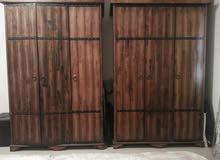 BROWN 3 DOOR WARDROBE SOLID WOOD x 2 Nos Aed 2000
