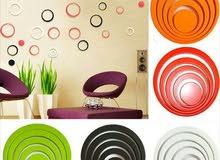 قطع خشبية ملونة  لتزيين الجدار