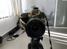 Canon 5D Mark 3 with 24-105mm Lens & Battery & Charger & Army Cover