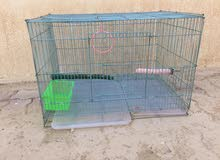 birds cage with accessories