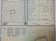 ارض سكنيه مخطط النعام مساحة كبيرة جنب البيوت وقريبة من الشارع