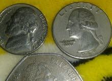 خمسه سنت امريكي عام 1969 نادره