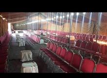 خيمه هنديه مع كراسي كروم لمده 3 ايام 250 دينار مركز ابوطير للفراح والمناسبات