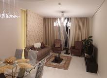 شقة مفروشة فخمة  غرفتين وصالة اطالة خلابة للبحر والمنامة  طابق 6