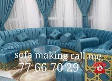 making new sofa, Majlis,curtain.Repairing old sofa, majlis
