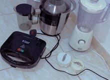 جميع ادوات المطبخ بحالة جديدة استعمال شهرين