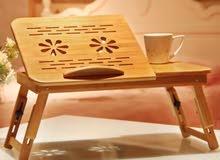 طاولةخشبية فاخره للابتوب مستورده جودة عالية وتوصيل مجانا