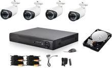 كاميرات مراقبة ب4 كاميرات بأسعار خرافية  وخصم كبير لأول عشرة متصلين