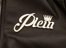jacket phillip plein original noir cuire vrai