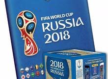 ألبوم بانيني لكأس العالم  + علبة 250  إستيكر - Panini Russia 2018 Worldcup Album + 250 sticker Box
