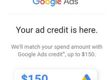 Google Ads advertising gift card from 150 $ to 50 jd