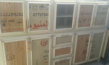 كاونتر للبيع المنيوم كويتي ابو المرمر مترين الارضي والمعلق مترين نضيف أخو الجديد
