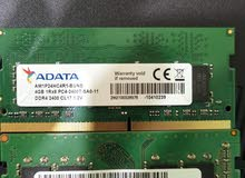 RAM 8GB and 4GB DDR4 BUSS 2400 FOR LATOP