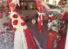 محل ورد وزينة سيارات في الدوار السابع  للبيع