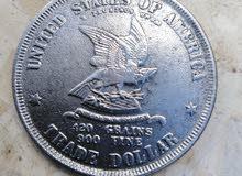 عملة أمريكية قديمة 1873