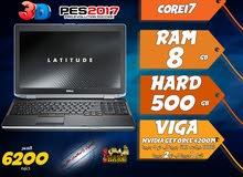 laptop dell core i7 ram 8 hdd 500 viga nvidia + intel لبرامج الجرافيك والالعاب