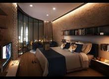 شقة هاي الترسوبر لوكس فرش فندقي شيك جدا اول سكن برج جديد موقع ممتاز مكرم عبيد