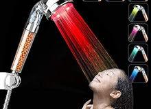 دش مضئ التورمالين + زياده ضغط الماء لدوش المضي  لايحتاج الى بطاريه او كهرباء