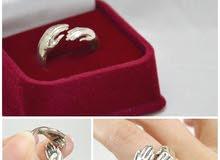 خاتم حضن فضة ايطالي 925